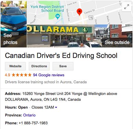 CANADIAN DRIVERS ED – DRIVING SCHOOL AURORA